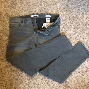 Faded black/ grey skinny ankle jeans